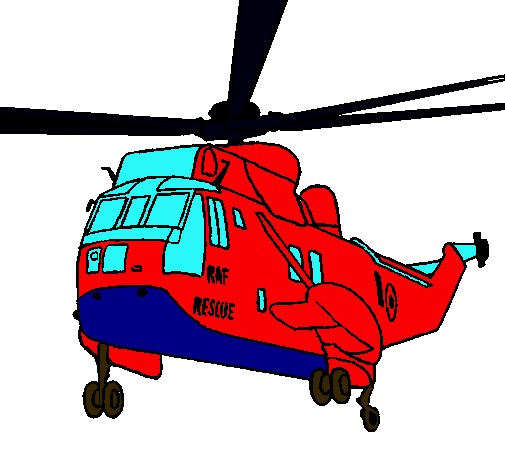 Dibujo De Helicóptero Al Rescate Pintado Por Guerra En Dibujosnet