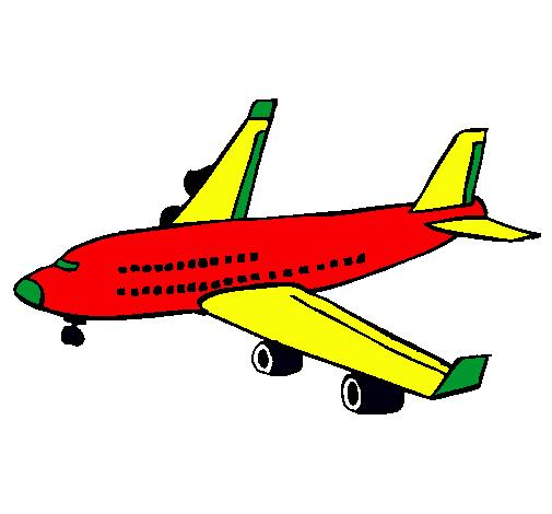Dibujo de Avión de pasajeros pintado por Trajano1000 en Dibujos.net ...