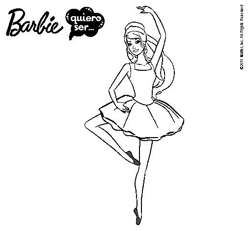 Dibujo De Barbie Bailarina De Ballet Pintado Por Hfsjkfb En Dibujos