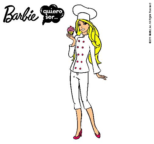 Dibujo De Barbie De Chef Pintado Por Porrista En Dibujosnet El Día