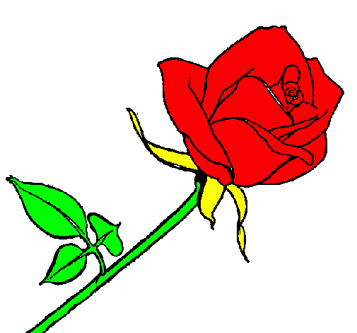 Dibujo De Rosa Pintado Por Jajajajajaaa En Dibujosnet El Día 10 05