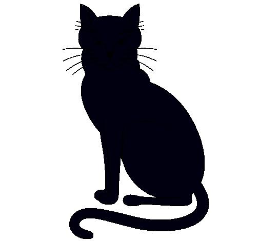 Dibujo De Felino Pintado Por Silueta En Dibujosnet El Día 21 05 11