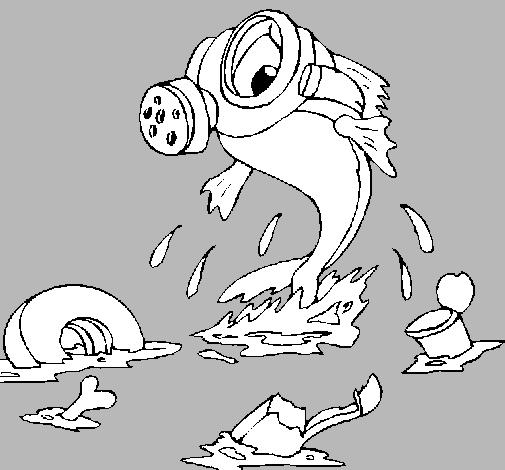 Dibujo De Contaminación Marina Pintado Por Sandraftv En Dibujosnet