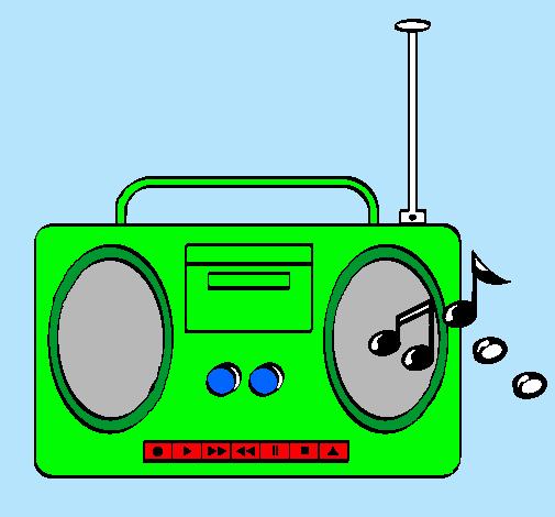 Dibujo De Radio Cassette 2 Pintado Por Grabadora En Dibujosnet El