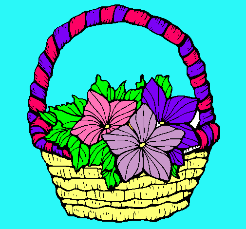 Dibujo De Cesta De Flores 2 Pintado Por Canasta En Dibujosnet El