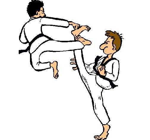 Dibujo De Kárate Pintado Por Taekwondo En Dibujosnet El Día 11 06