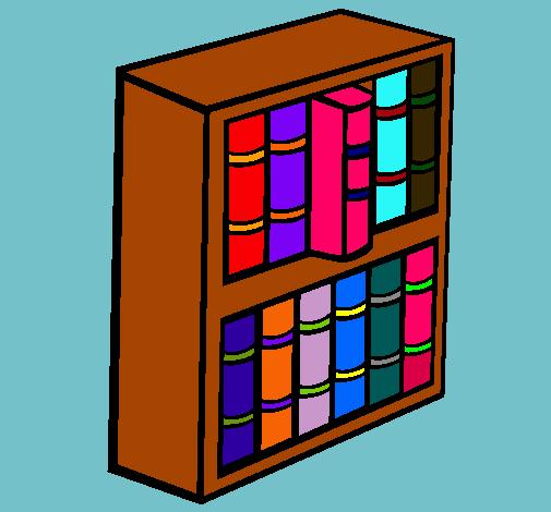 Dibujo De Librería Pintado Por Biblioteca En Dibujosnet El