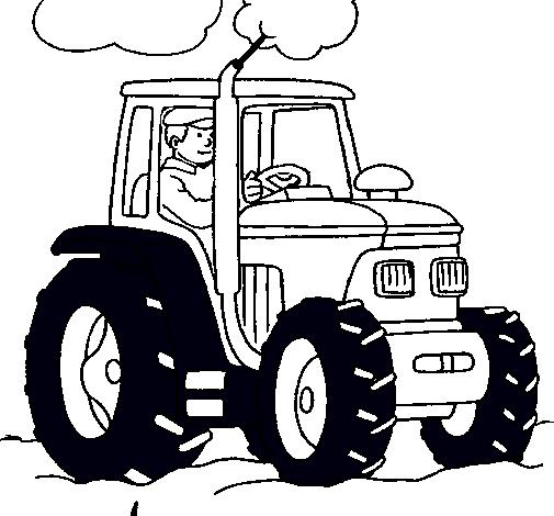 Dibujo de Tractor en funcionamiento pintado por Ezequielcas en ...