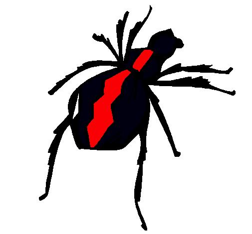 Dibujo de Araña viuda negra pintado por Brytuikyiki en Dibujos.net ...