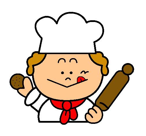 Dibujo de cocinero 2 pintado por brihton en el for Herramientas de un cocinero