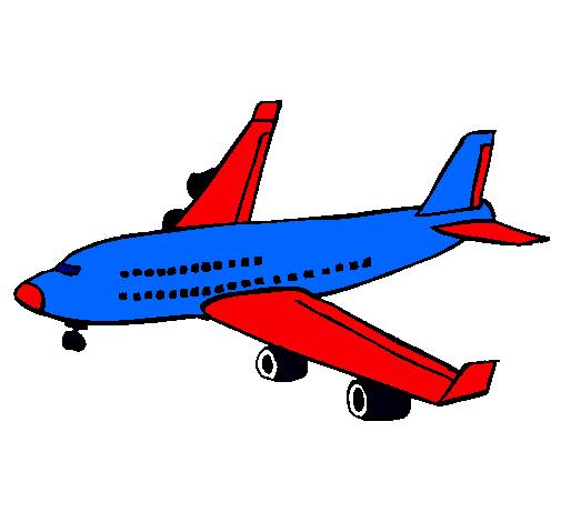 Dibujo de Avión de pasajeros pintado por Jumbo en Dibujos.net el día ...