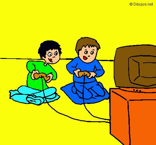 Dibujo De Niños Jugando Pintado Por Santiago01 En Dibujosnet El Día
