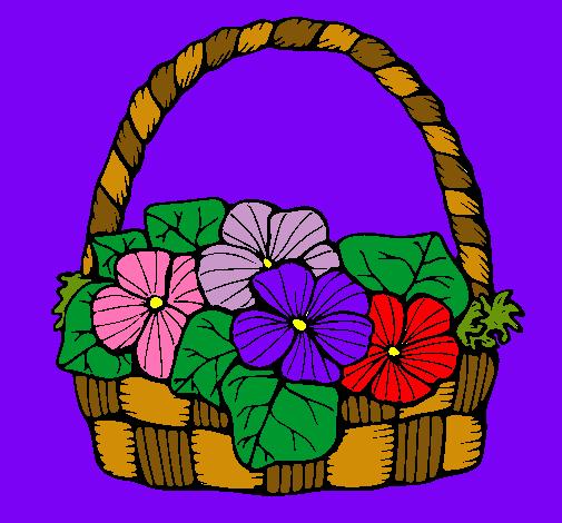 Dibujo De Cesta De Flores 6 Pintado Por Florero En Dibujosnet El