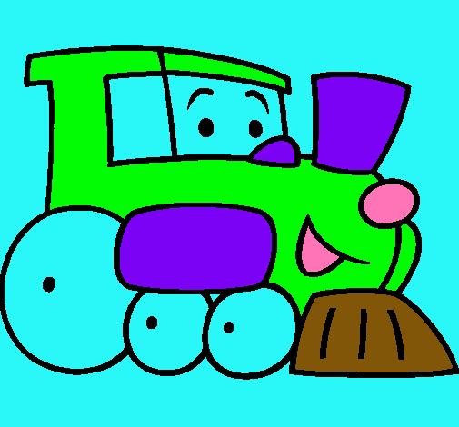 Dibujo De Tren Pintado Por Trencito En Dibujosnet El Día 01