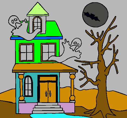 Dibujo De Casa Fantansma Pintado Por Color En Dibujosnet El Día 25