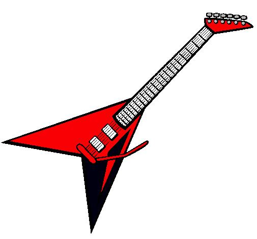 Dibujo De Guitarra Eléctrica Ii Pintado Por Ooooooooo En Dibujosnet