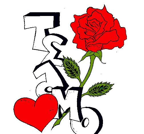 Dibujo de Te amo II pintado por Yisela en Dibujos.net el día 01-09 ...