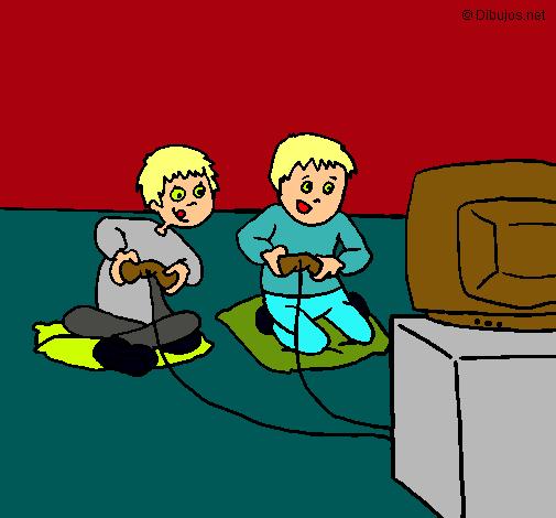Dibujo De Ninos Jugando Pintado Por Play En Dibujos Net El Dia 02 10