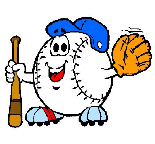 Dibujo de Bola de béisbol pintado por Jugador en Dibujos.net el día ...
