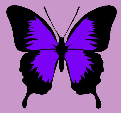 Dibujo De Mariposa Con Alas Negras Pintado Por Nicoleta2 En