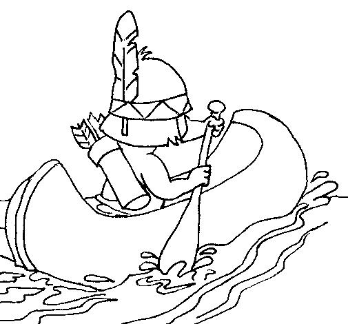 Dibujo de Indio remando pintado por Balsa en Dibujos.net el día 09 ...