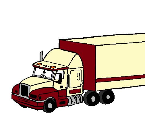 Dibujo De Camión Tráiler Pintado Por Kellymm En Dibujosnet