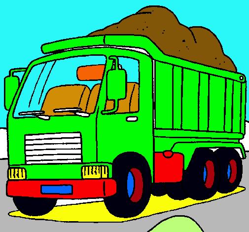 Dibujo De Camión De Carga Pintado Por Volteo En Dibujos
