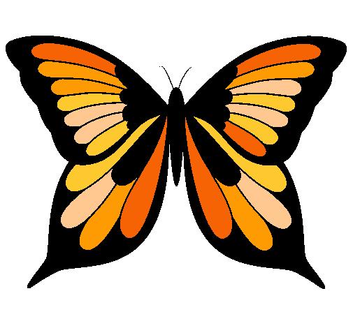 Dibujo De Mariposa 8 Pintado Por Monarca En Dibujosnet El Día 18 12