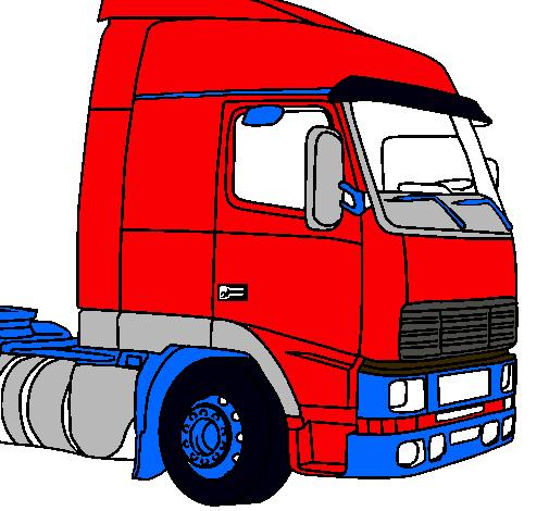 Dibujo De Camión Pintado Por Volvo En Dibujos.net El Día