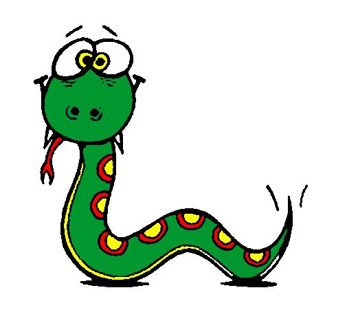 Dibujo De Serpiente 3 Pintado Por Ximenitap En Dibujosnet El Día 09