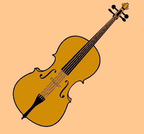 dibujo de violín pintado por xamilita en dibujos el día 02-02