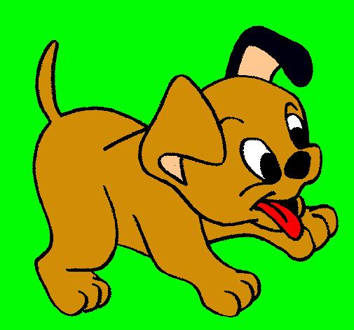 Dibujo De Perrito Pintado Por Bonito En Dibujos Net El Dia 08 02 12