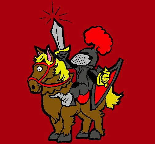 Dibujo De Caballero Alzando La Espada Pintado Por Pipila En