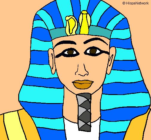 Dibujo de Tutankamon pintado por Loloiy en Dibujos.el día 23
