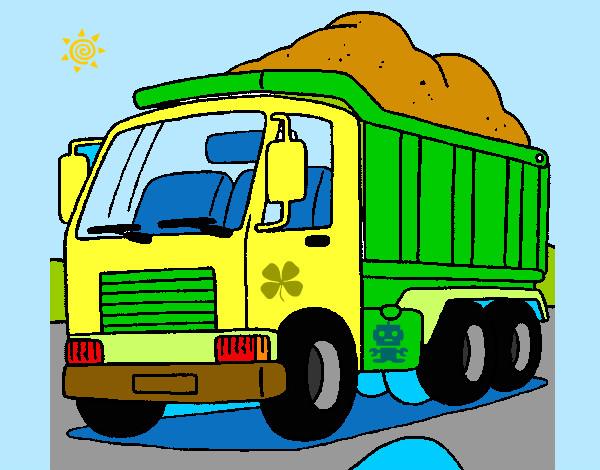 Dibujo De Camiones Grandes Pintado Por Elena21 En Dibujos