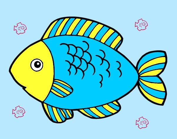 Dibujo de pez1 pintado por Mercibecop en Dibujos.net el ...