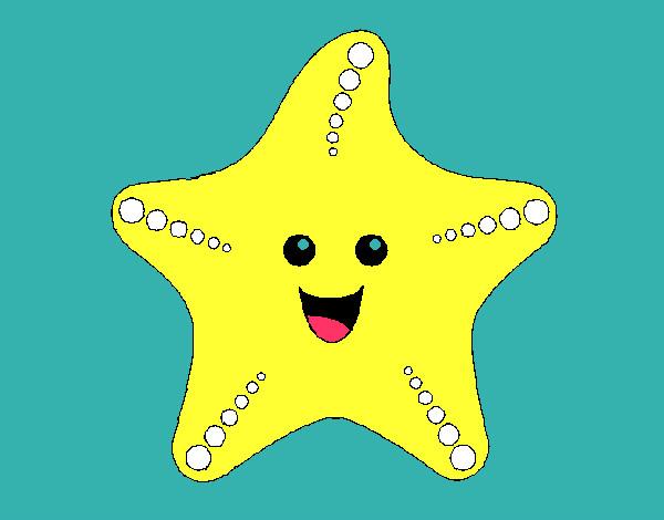 Dibujo De Estrella De Mar 1 Pintado Por Divinas123 En