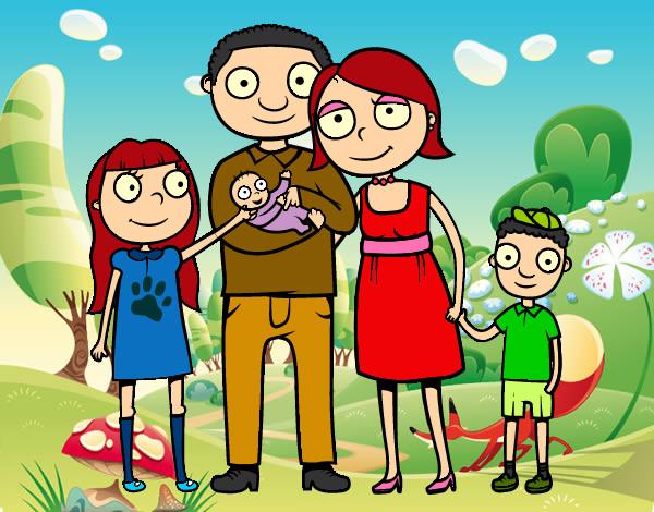 Dibujo De Familia Para Simpre Pintado Por Thayra123 En Dibujosnet