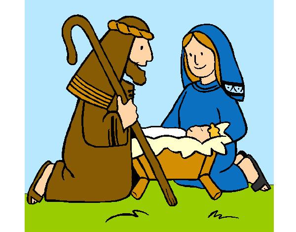 Dibujos De Navidad Con Jesus.Dibujo De Adoran Al Nino Jesus Pintado Por Lamorales En