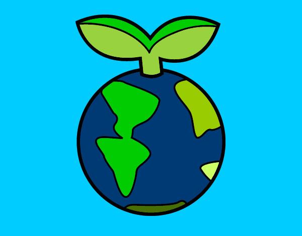 Dibujo de Planeta limpio y sano pintado por Famakiki en ...