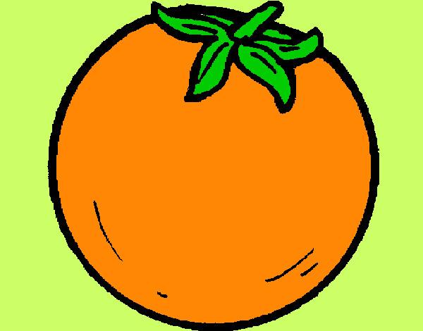 Dibujos Animados Texto Naranja: Dibujos De Frutas Coloreadas
