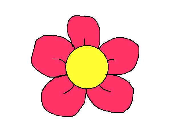 Flores En Dibujo A Color: Dibujo De Flor 3 Pintado Por Naaray1 En Dibujos.net El Día