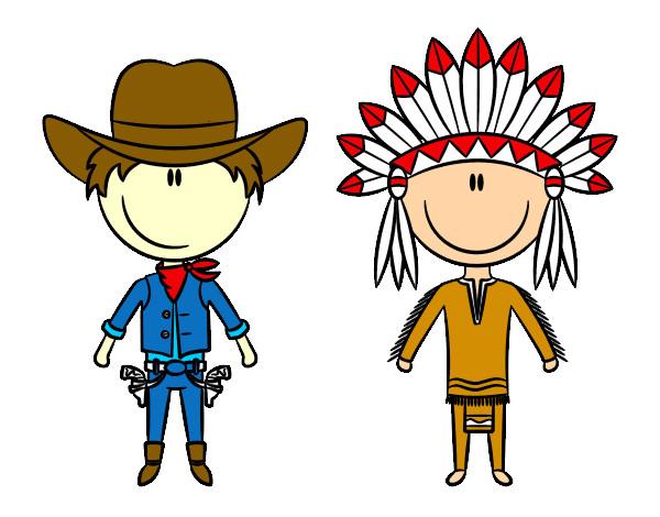 Dibujo de indios y vaqeros pintado por Gsupergaly en Dibujos.net el ...