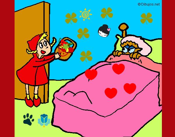 Dibujo de caperucita roja pintado por Ainhoaysol en ...