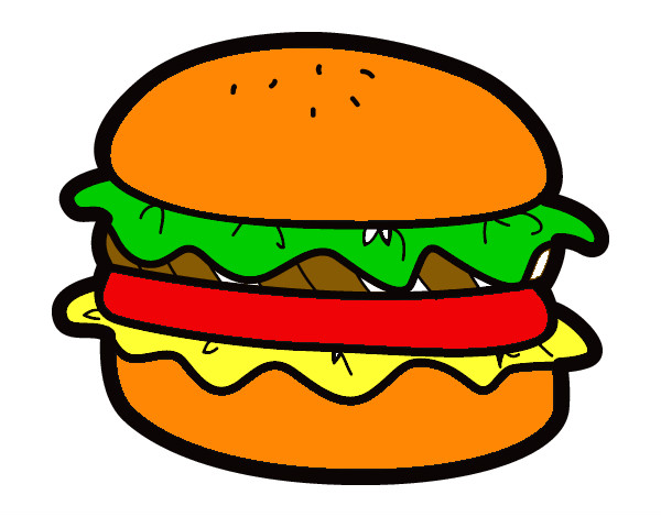 Детские рисунки гамбургер