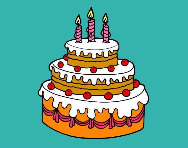 Dibujo De Torta De Luz Pintado Por Vallejos En Dibujos.net