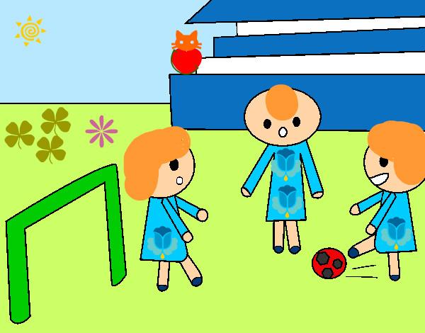 Dibujo De Niños Jugando A Futbol Pintado Por Queyla En Dibujosnet