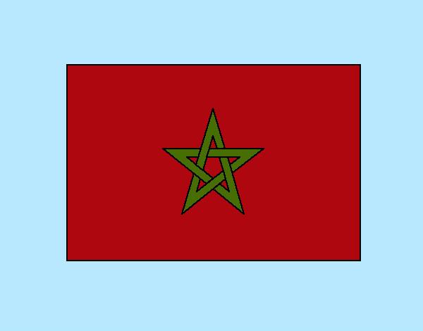 Dibujo De Bandera De Marruecos Pintado Por Biancaviol En Dibujos Net El Día 27 05 12 A Las 15 59 15 Imprime Pinta O Colorea Tus Propios Dibujos