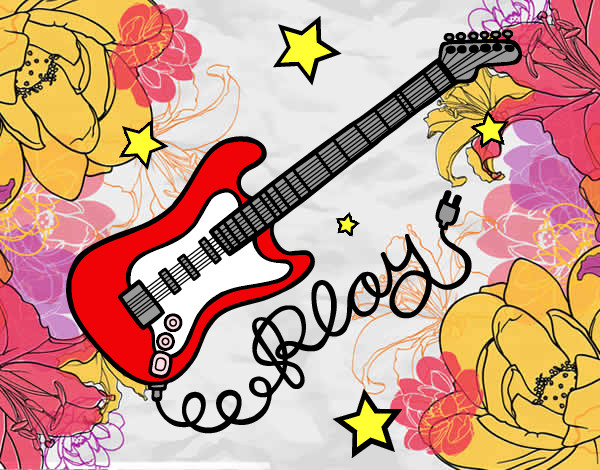 Dibujo De Rock And Roll Pintado Por Lolabetica En Dibujos