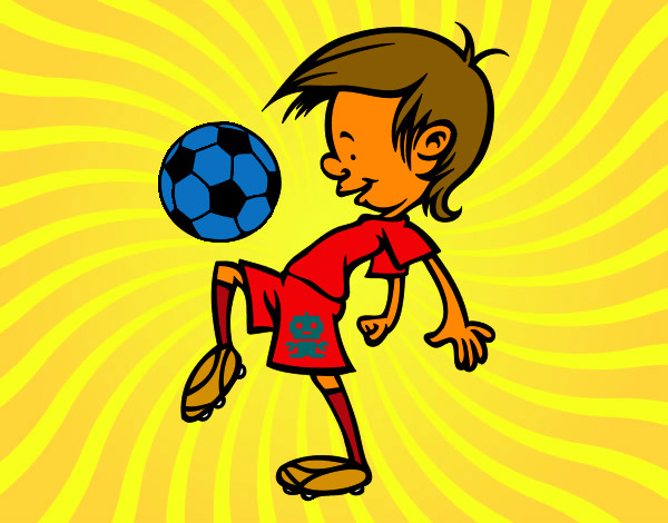 Dibujo De Niño Jugando Futbol Pintado Por Bendezu En Dibujosnet El